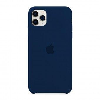 Capa silicone Azul iPhone 11 Pro Max