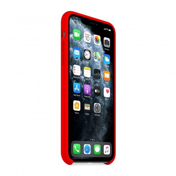 Capa silicone Vermelho iPhone 11 Pro Max