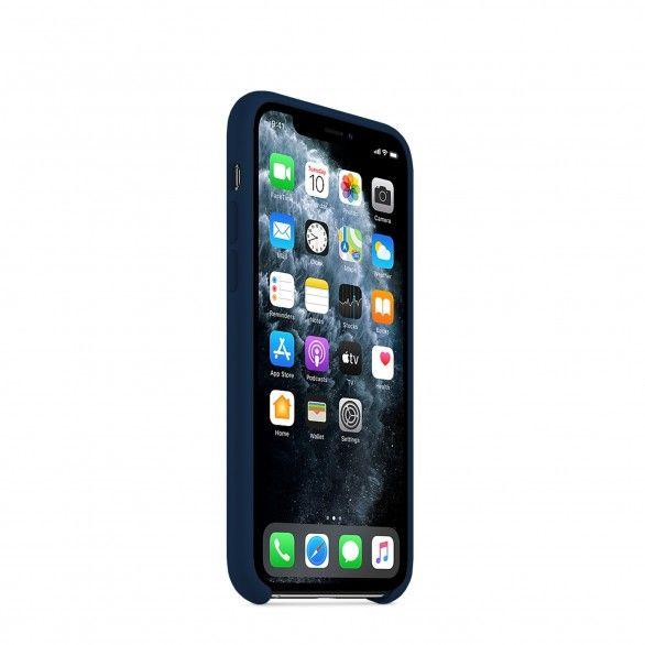 Capa silicone Azul iPhone 11 Pro