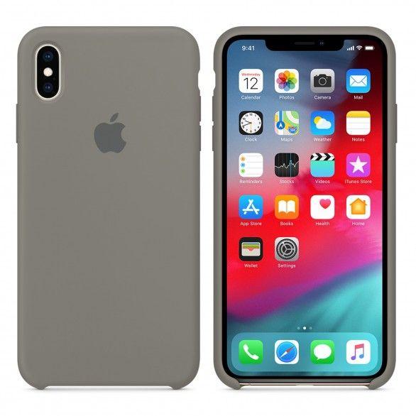 Capa silicone Cinzento iPhone XS Max