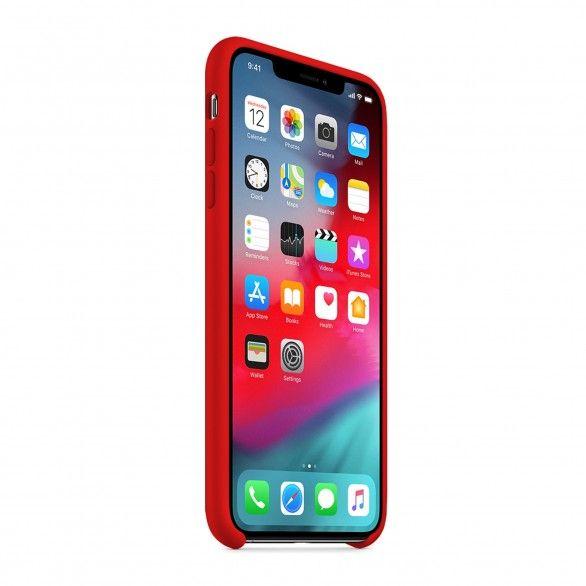 Capa silicone Vermelho iPhone XS Max