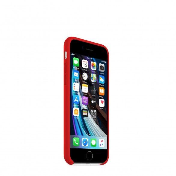 Capa silicone Vermelho iPhone 8