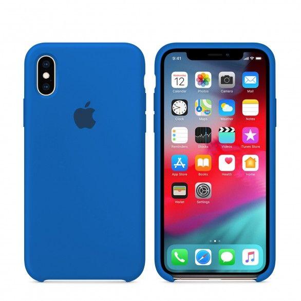 Capa silicone Azul claro iPhone X