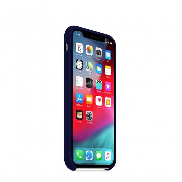 Capa silicone Azul iPhone X