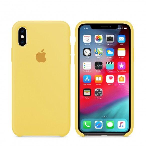 Capa silicone Amarelo claro iPhone XS