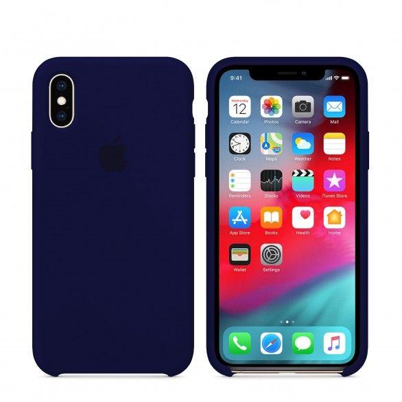 Capa silicone Azul iPhone XS