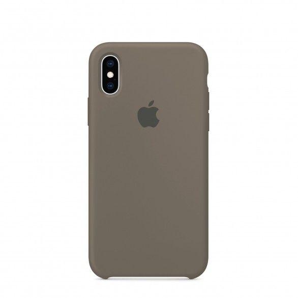 Capa silicone Cinzento iPhone XS