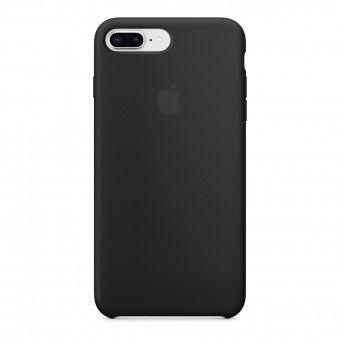 Silicone Cover Negro iPhone Plus 8