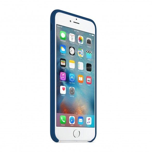 Capa silicone Azul iPhone 6 Plus