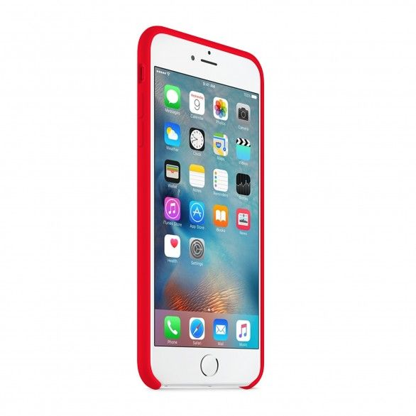 Capa silicone Vermelho iPhone 6s Plus