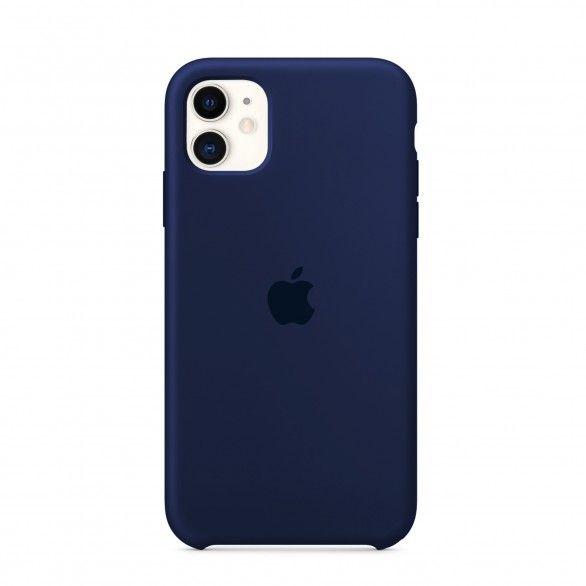 Capa silicone Azul iPhone 11