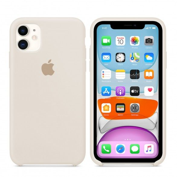 Capa silicone Bege iPhone 11
