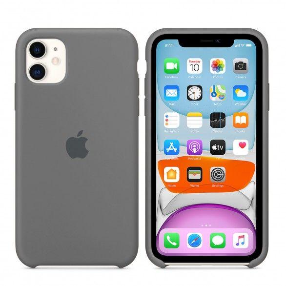 Capa silicone Cinzento iPhone 11