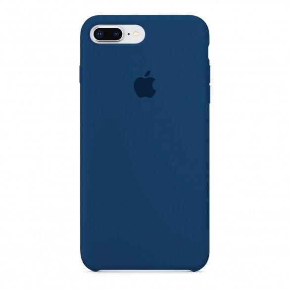 Capa silicone Azul iPhone 7 Plus