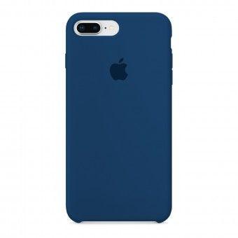 Azul silicone cover iPhone Plus 8