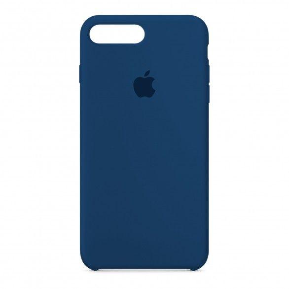 Capa silicone Azul iPhone 8 Plus