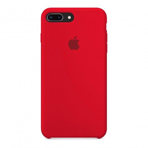 Capa silicone Vermelho iPhone 8 Plus