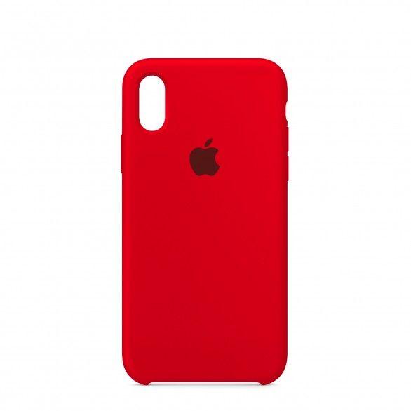 Capa silicone Vermelho iPhone X