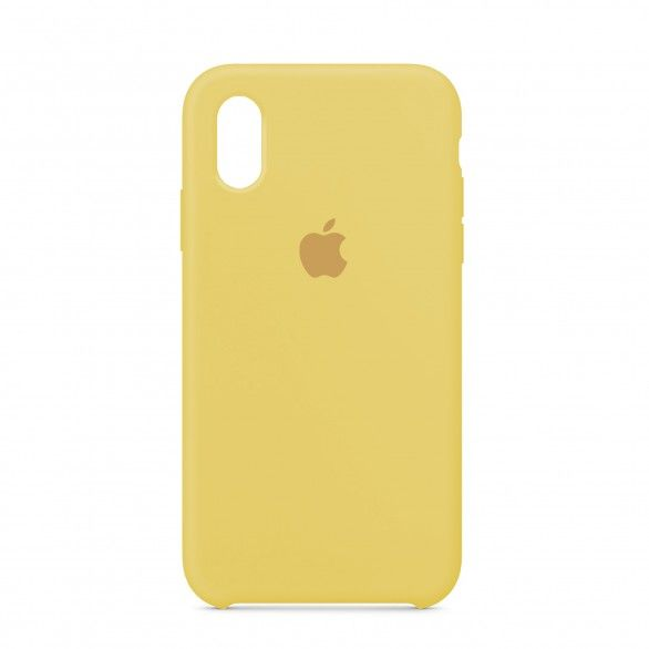 Capa silicone Amarelo iPhone XR