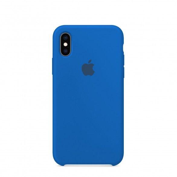Capa silicone Azul claro iPhone XS