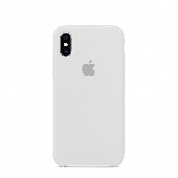 Capa silicone Branco iPhone XS
