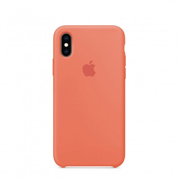 Capa silicone Coral iPhone XS