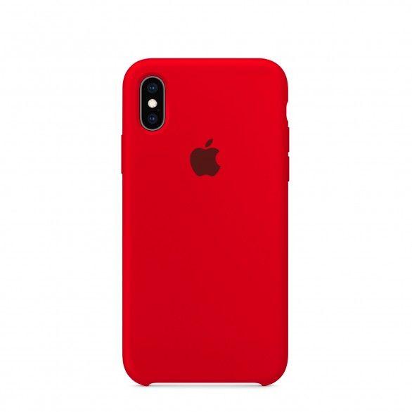 Capa silicone Vermelho iPhone XS