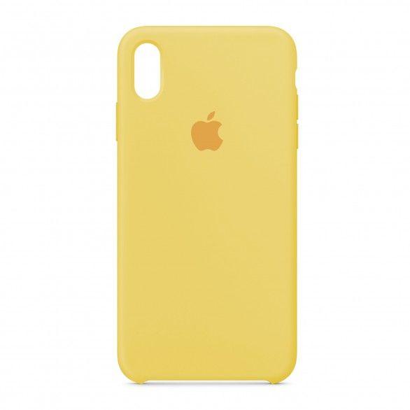 Capa silicone Amarelo claro iPhone XS Max