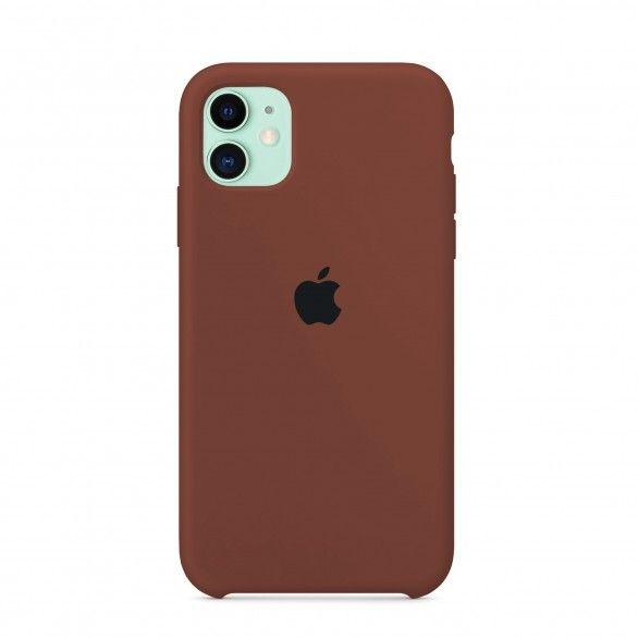 Capa silicone Castanho iPhone 11