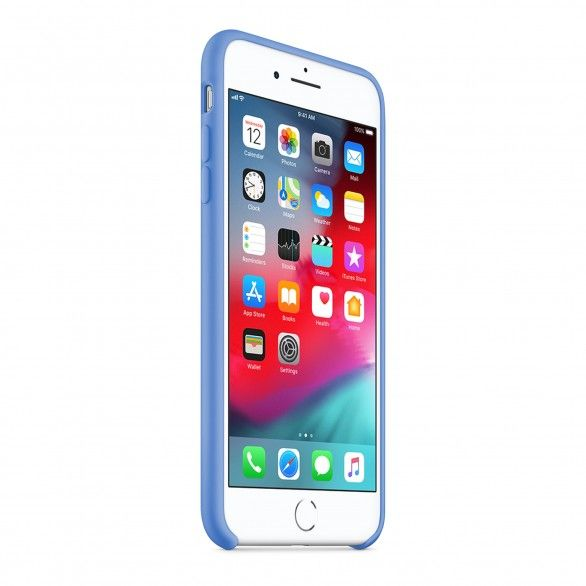 Capa silicone Azul claro iPhone 8 Plus