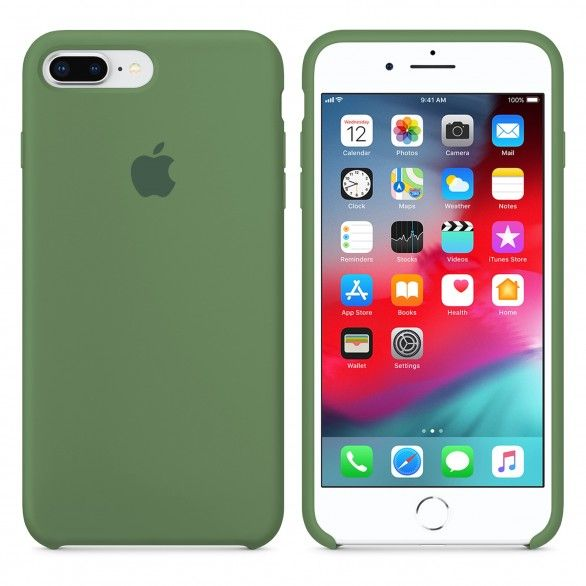 Capa silicone Verde claro iPhone 8 Plus