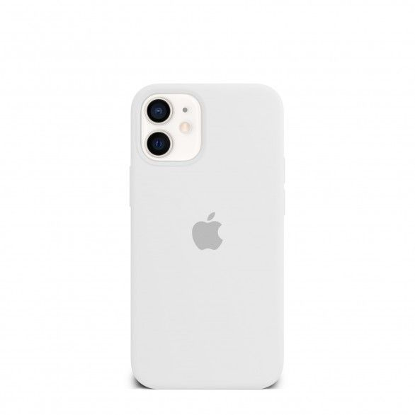 Capa silicone Branco iPhone 12 Mini