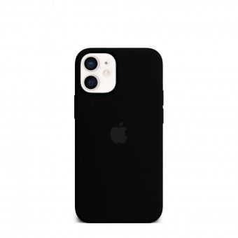 Silicone Cover Negro iPhone Mini 12