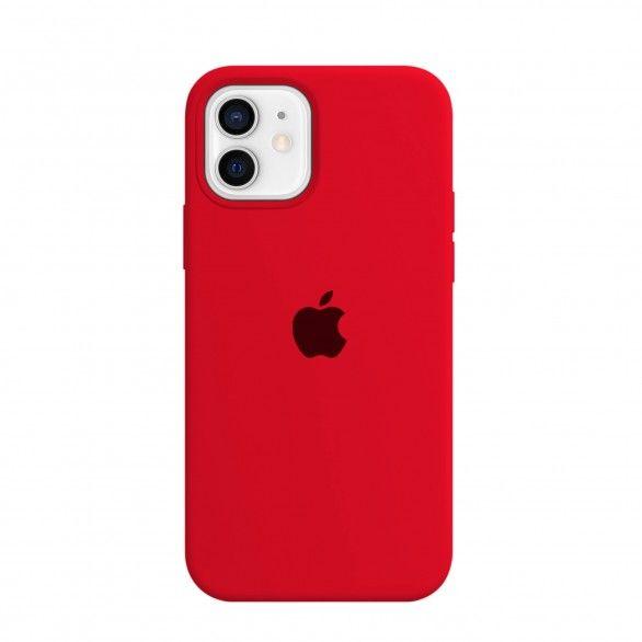 Capa silicone Vermelho iPhone 12