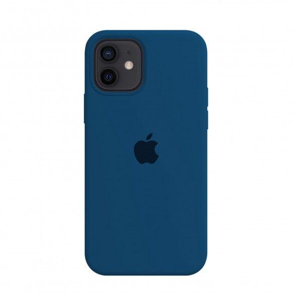 Capa silicone Azul iPhone 12