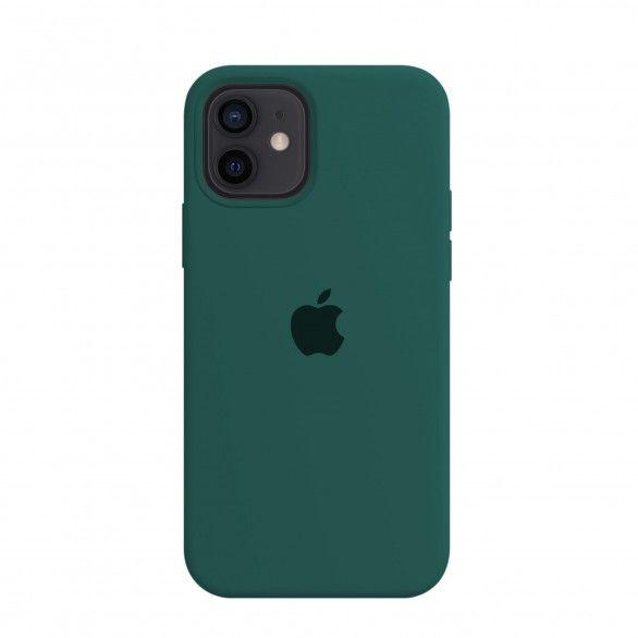 Capa silicone Verde iPhone 12