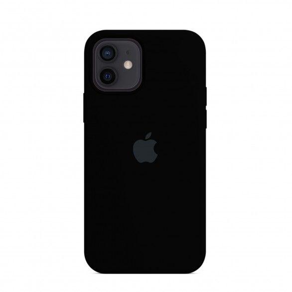 Capa silicone Preto iPhone 12