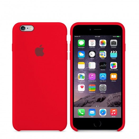 Capa silicone Vermelho iPhone 6