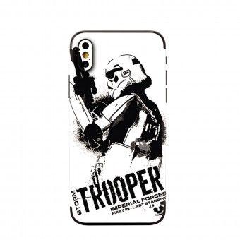 Proteção traseira 3D telemóvel storm trooper