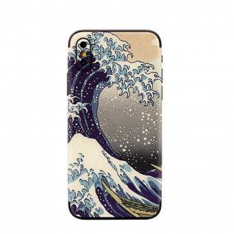 Proteção traseira 3D telemóvel onda