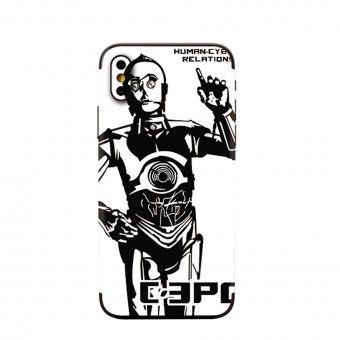Proteção traseira 3D telemóvel C-3PO